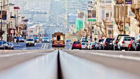 san - francisco, road, cars