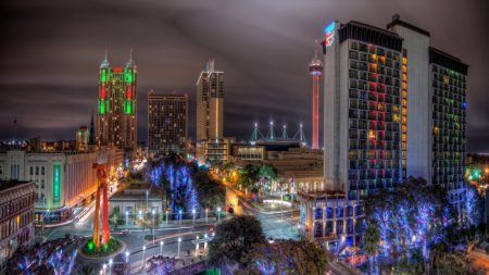 san antonio, texas, night