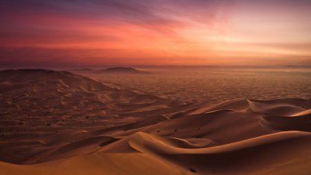 sand, desert, evening