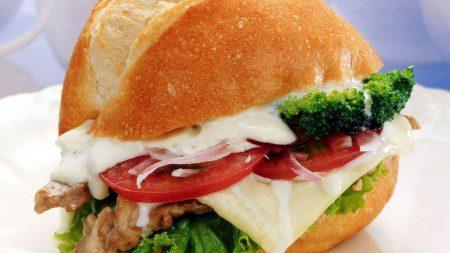 sandwich, cheese, tomato