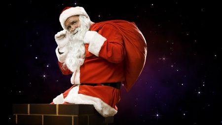 santa claus, bag, gifts