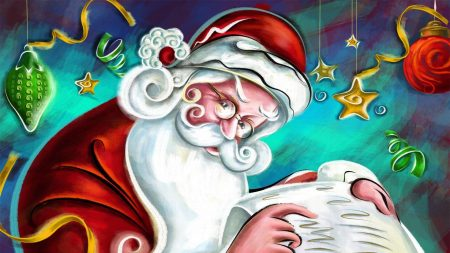 santa claus, christmas decorations, christmas