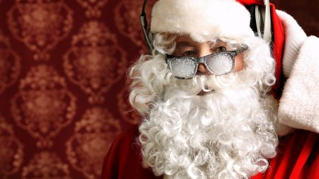 santa claus, christmas, glasses