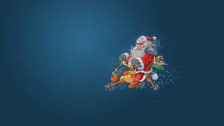 santa claus, reindeer, elf