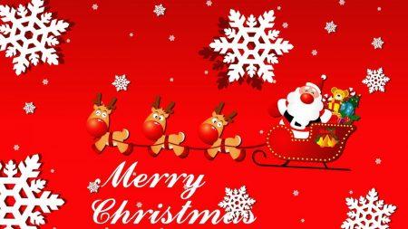 santa claus, sleigh, presents