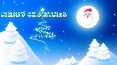 santa claus, smile, moon