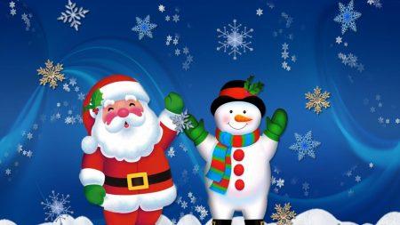 santa claus, snowman, holiday