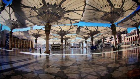 saudi arabia, square, umbrellas