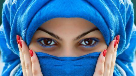 scarf, face, eyes