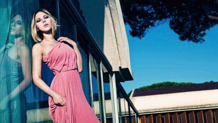 scarlett johansson, blonde, dress