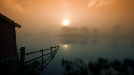 scotland, fog, haze