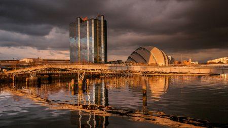 scotland, glasgow, river