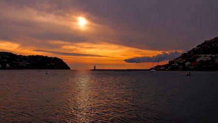 sea, bay, lighthouse