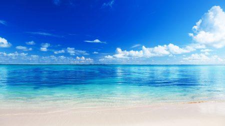 sea, beach, horizon