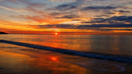 sea??, beach, sunset