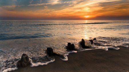 sea, coast, wave