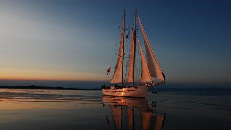 sea??, evening, yacht