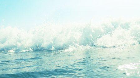 sea, foam, wave