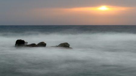 sea, fog, veil