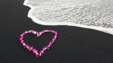 sea??, heart, nature