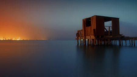 sea, pier, construction