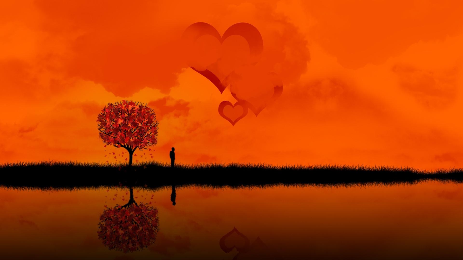 Download Wallpaper 1920x1080 Sea River Person Love Full Hd