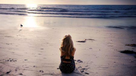 sea, sand, girl