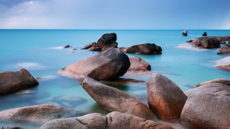 sea, stones, water