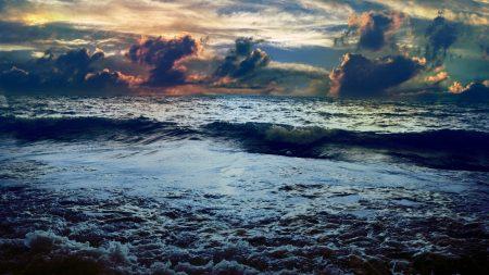 sea, storm, colors