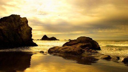 sea, surf, rocks