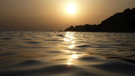 sea, water, decline