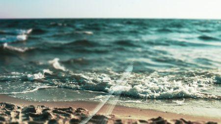 sea, wave, foam