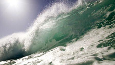 sea, wave, splashes