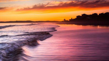 sea, waves, decline