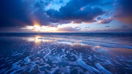 sea, waves, foam