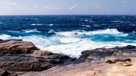sea, waves, plates