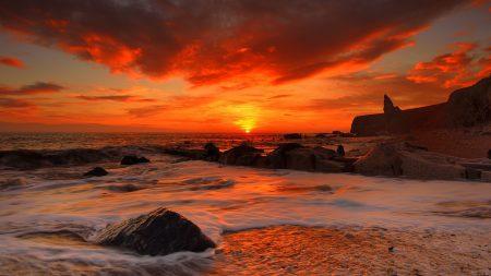 sea, waves, rocks
