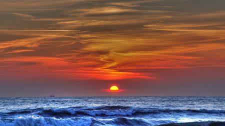 sea, waves, sun
