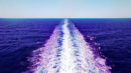 sea, waves, traces