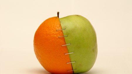 selection, apple, orange