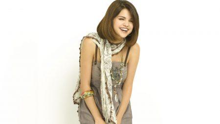 selena gomez, girl, skarf