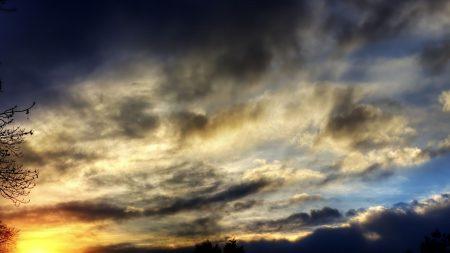shadow, sky, clouds