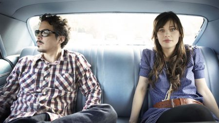 she and him, cabin, car