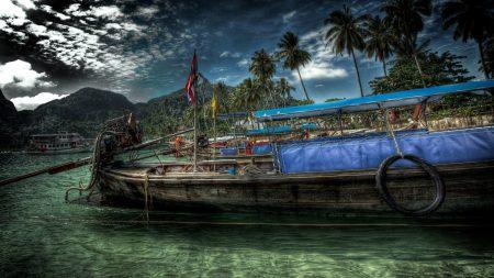 ship, coast, water