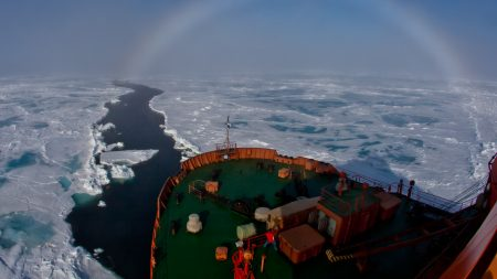 ship, ice, snow