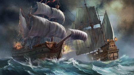 ships, sea, storm