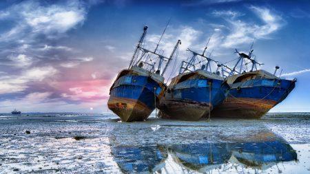 ships, sea, stranded