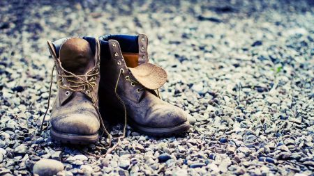 shoes, old, boots
