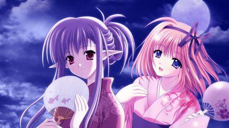 shuffle, girl, kimono