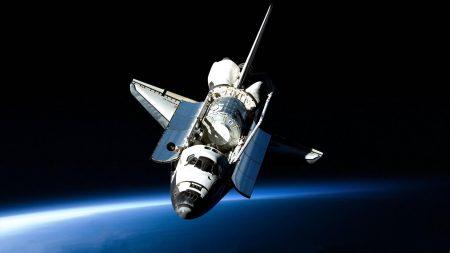 shuttle, open space, flight